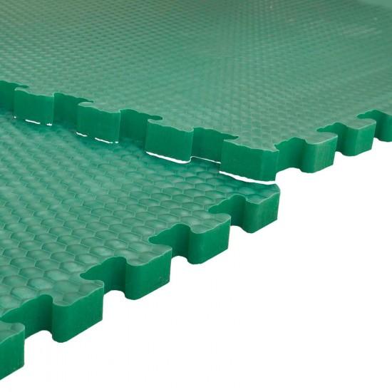 EVA-Stallmatte grün, mit Rundumverzahnung 0