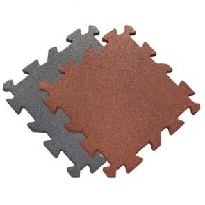 Gummi-Quadratmatte in rotbraun oder grau grau 2,5 cm 0