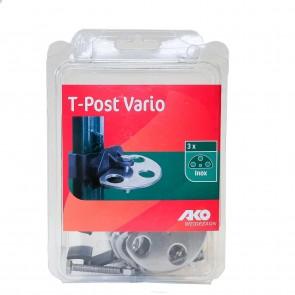 Torgriffisolator Vario für T-Post, schwarz 0